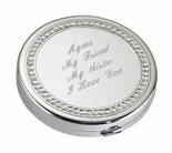 Silver Compact Case With Crystal Trim