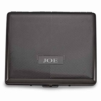 Contemporary Double Sided Gunmetal Cigarette Case