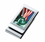 Double Sided American Flag Money Clip