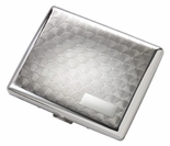 Double Sided Deco Silver Cigarette Case