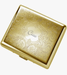 Double Sided Gold Paisley Cigarette Case