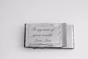 Double Sided Silver Lined Money Clip
