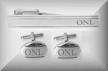 Brushed Stainless Steel Oval Cufflinks Tie Clip Set