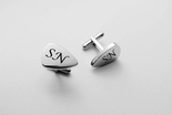 Silver Guitar Pick Cufflinks