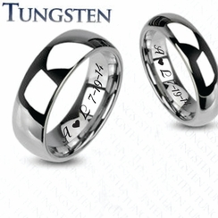 Tungsten Traditional Wedding Band