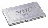 Framed Silver Business Card Holder