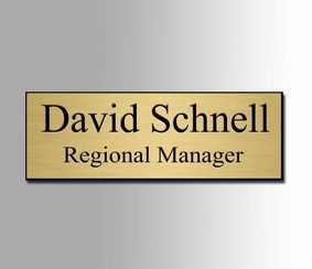 Gold and Black Name Badge 1x3