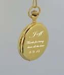 Gold Antique Pocket Watch Engraved