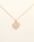 Gold Beveled Heart Necklace