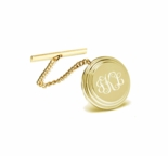 Gold Beveled Stainless Steel Tie Pin Tack