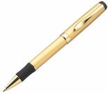 Gold Black Grip Pen Ball Point Twist Action