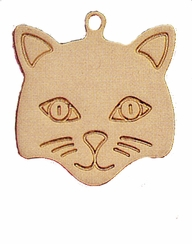 Gold Cat Pet Tag