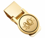 Gold Circle Hinged Money Clip