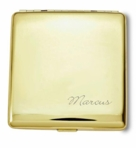 Gold Double Sided Cigarette Case