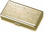 Gold Flip-Open Double Sided Cigarette Case
