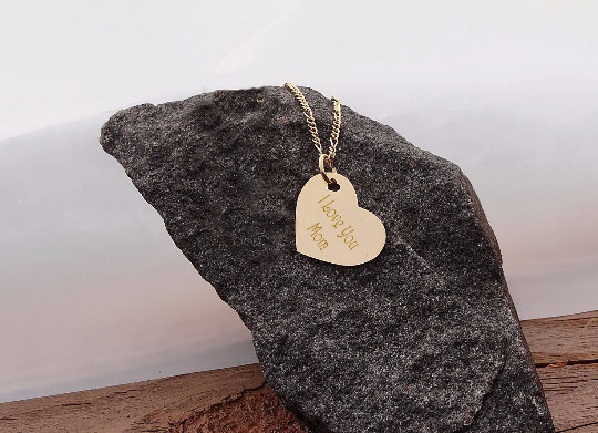 Gold heart pendant necklace engraved necklaces gold heart pendant necklace aloadofball Gallery