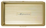 Gold Lined Double Sided Cigarette Case