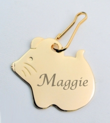 Gold Mouse Pet Tag