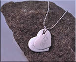 Gold or Silver Stainless Steel Heart Necklace Set on 1 chain