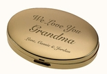 Gold Oval Compact Mirror