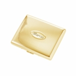 Gold Oval Double Sided Cigarette Case