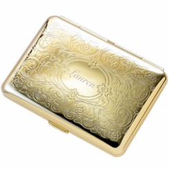 Gold Paisley Double Sided Cigarette Case