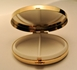 Gold Plated Greek Design Oval Pillbox