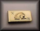 Gold Playing Card Money Clip