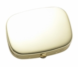 Gold Rectangle Pill Box