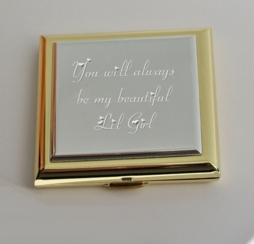 Gold & Silver Two Tone Compact Mirror