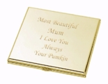 Gold Square Compact Mirror