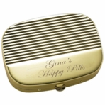 Gold Stripe Pill Box