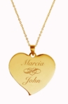 Gold Teardrop Heart Necklace