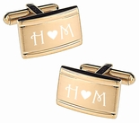 Gold Two Tone Cufflink Set