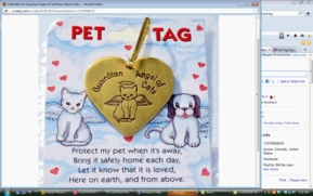 Guardian  Angel Brass Pet Tag