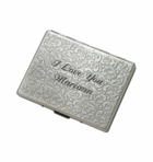 Gunmetal Paisley Double Sided Cigarette Case