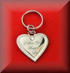 Heart Keychain With Stone Engraved Free