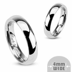 High Polish Stainless Steel Ring 4mm