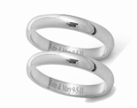 High Polish Stainless Steel Couple's Ring Set 3mm