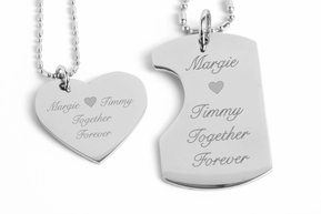 His and Hers Stainless Steel Necklaces