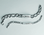 His & Hers Stainless Steel ID Bracelet Set