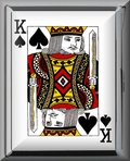 King of Spades Cigarette Case