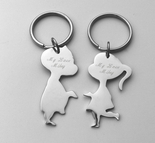 Kissing Couple Keychain Set