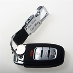 Leather Belt Keychain With LED & Bottle Opener