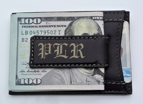 Leather Magnetic Money Clip & Wallet Combo