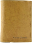 Leather Tan Men's Trifold Wallet