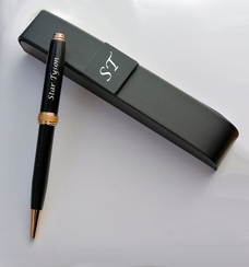 Luxus Executive Twist Action Ballpoint Pen with Gold Appointments