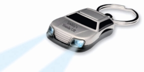 Flashlight Car Keychain