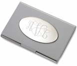 Modern Silver Business Card Holder