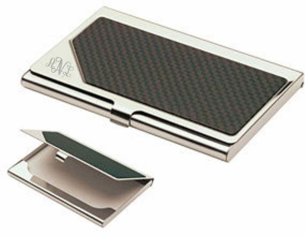 Carbon fiber business card holder business card holders monogrammed carbon fiber business card holder colourmoves Image collections